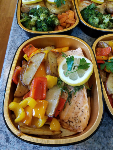 Detail photo of Salmon, Peppers and Potatoes